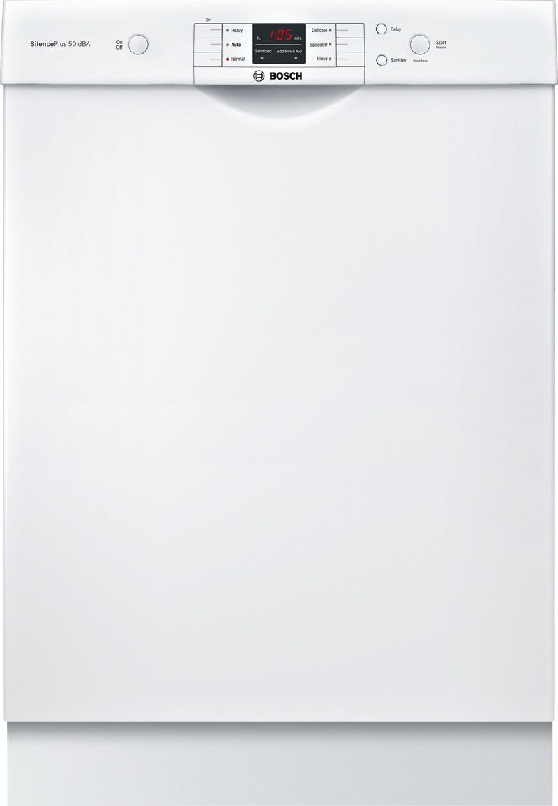 "Bosch 100 Series White 24"" Dishwasher - (SHEM3AY52N)"