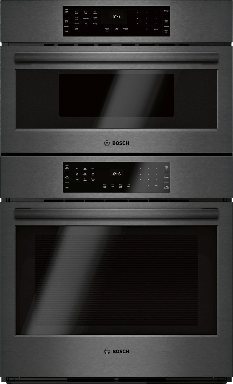 "Bosch Black Stainless Steel 30"" Combination Oven w/ Speed Oven - HBL8743UC"