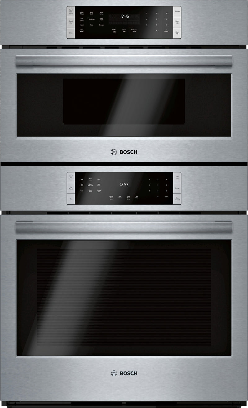 "Bosch Stainless Steel 30"" Combination Oven w/ Speed Oven - HBL8753UC"