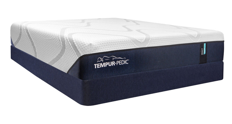 Tempur-Pedic React Medium Firm King Mattress and Split Boxspring Set