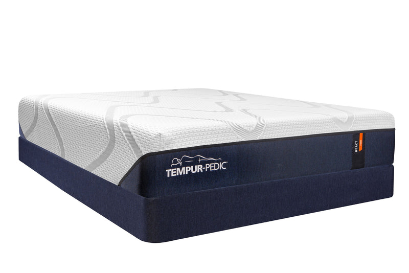 Tempur-Pedic React Firm King Mattress and Split Boxspring Set