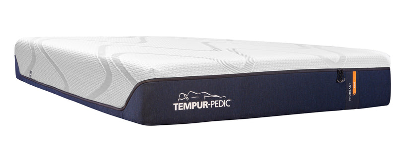 Tempur-Pedic Pro-React Firm Queen Mattress and Lift Head-Up Adjustable Base Set
