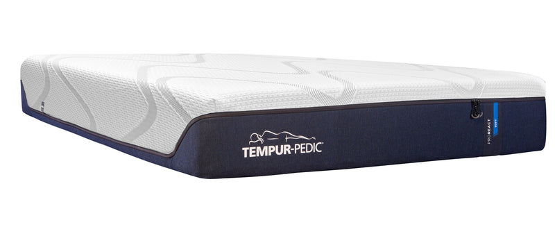 Tempur-Pedic Pro-React Plush Queen Mattress and Lift Head-Up Adjustable Base Set