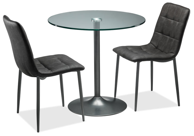 Fifi I 3-Piece Dinette Set - Grey