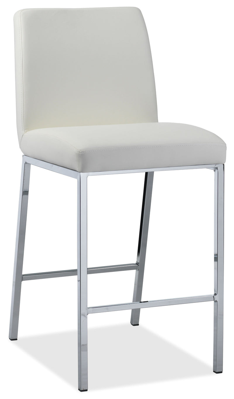 Lamar Counter Height Stool - White