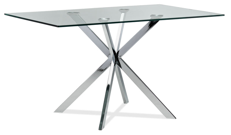 Darron Dining Table - Chrome