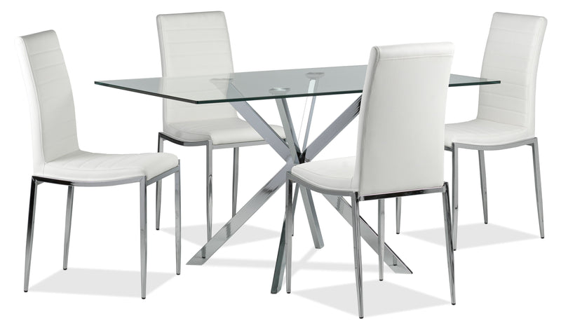 Darron 5-Piece Dinette Set - White
