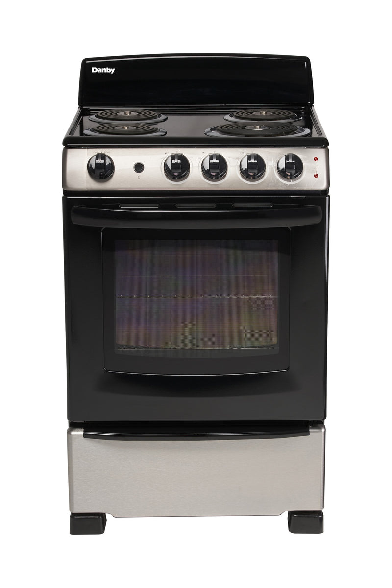 "Danby Black and Stainless Steel 24"" Range - DER244BSSC"