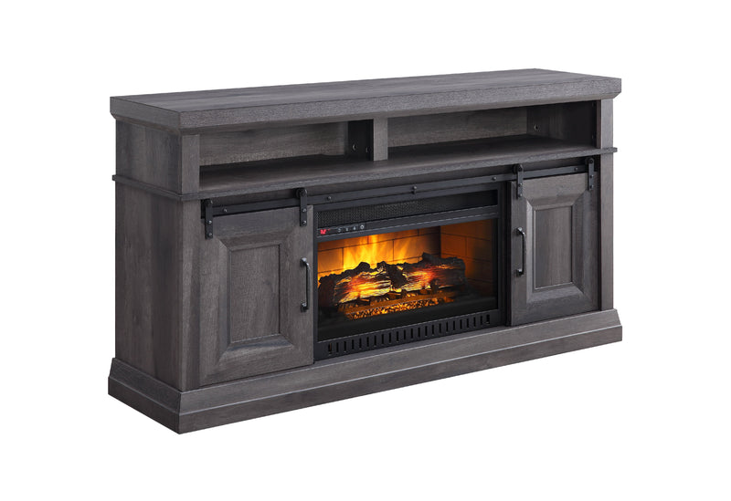 Preston Fireplace TV Stand - Charcoal