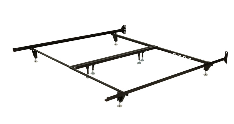 Heavy-Duty 8-Leg Queen/King Bed Frame on Glides