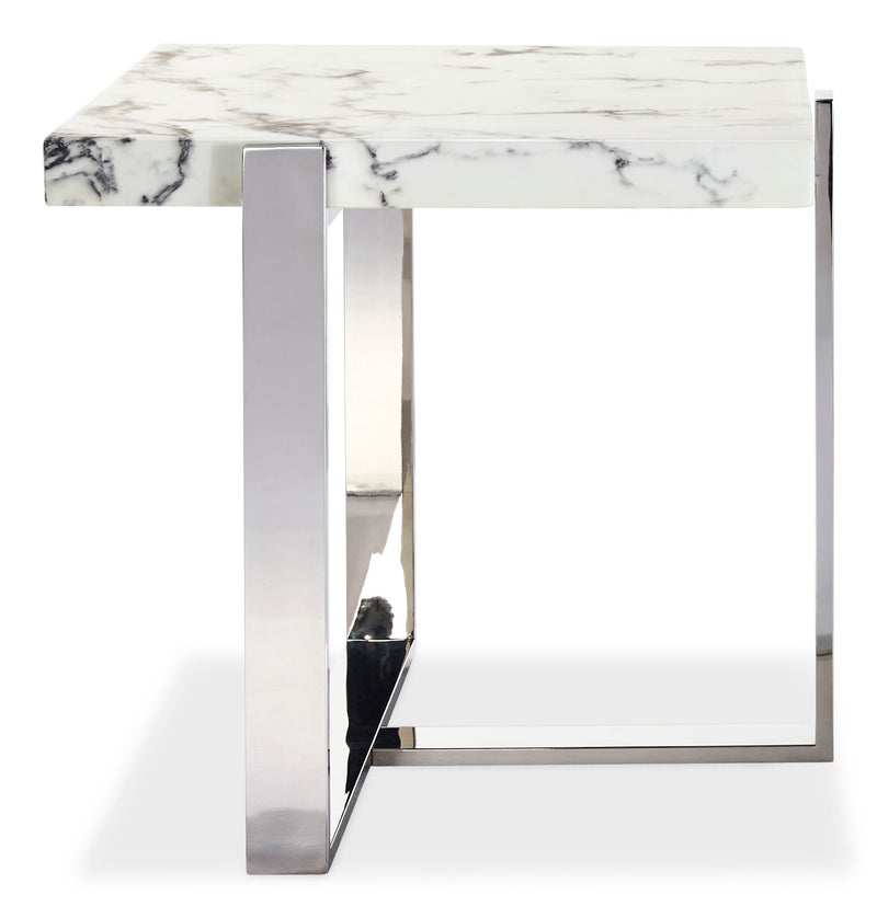 Bellini End Table - White
