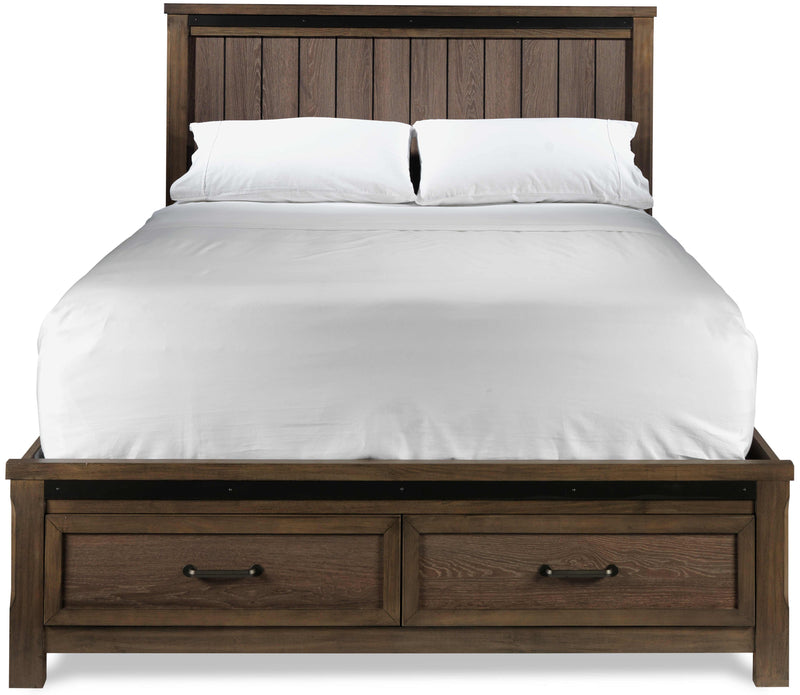 Rossco Queen Bed - Rustic Oak