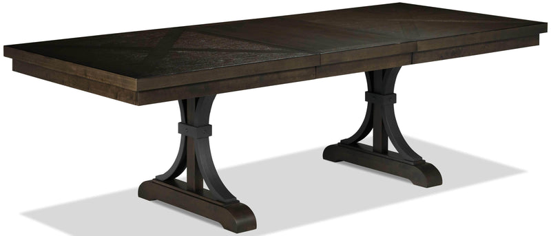 Flanigan Dining Table - Distressed Espresso