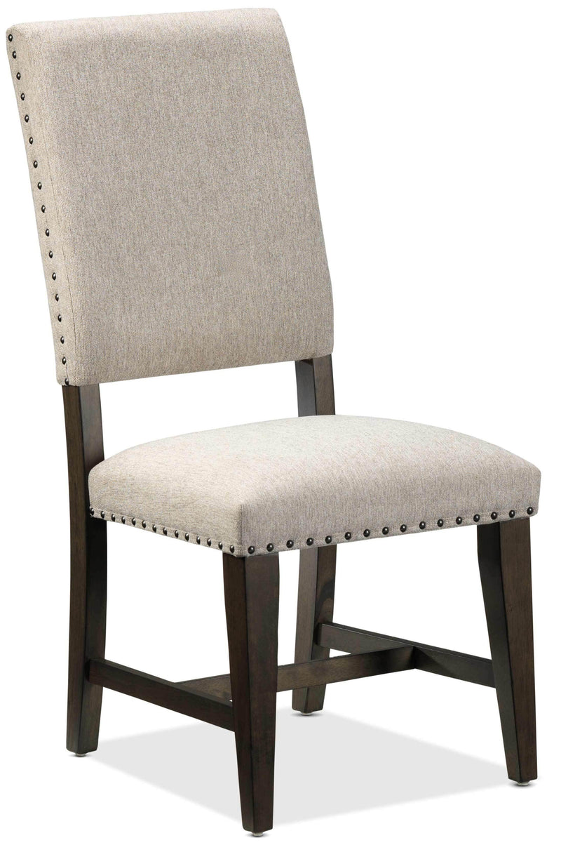 Flanigan Dining Chair - Beige and Espresso