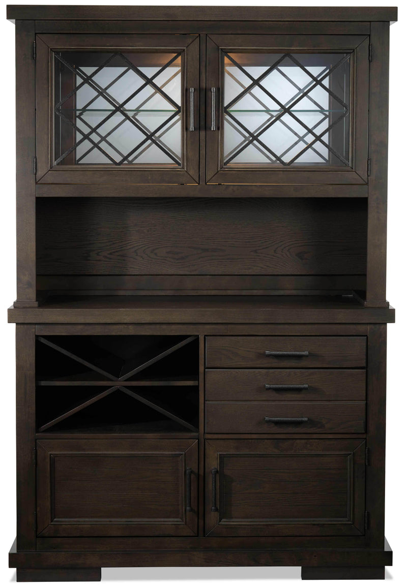 Flanigan Buffet and Hutch - Distressed Espresso