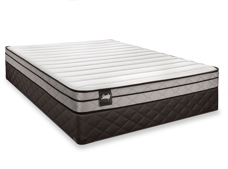 Sealy Glittering Firm Queen Mattress and Boxspring Set