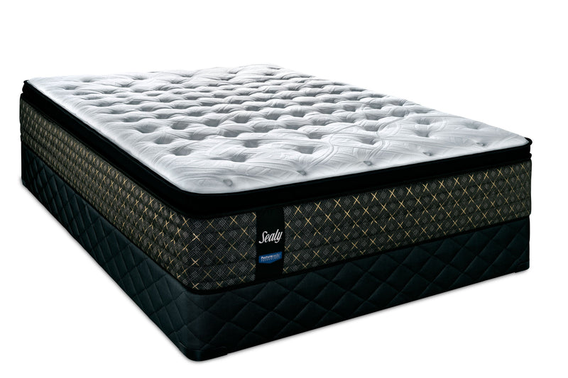 Sealy 24K Plush Queen Mattress and Boxspring Set