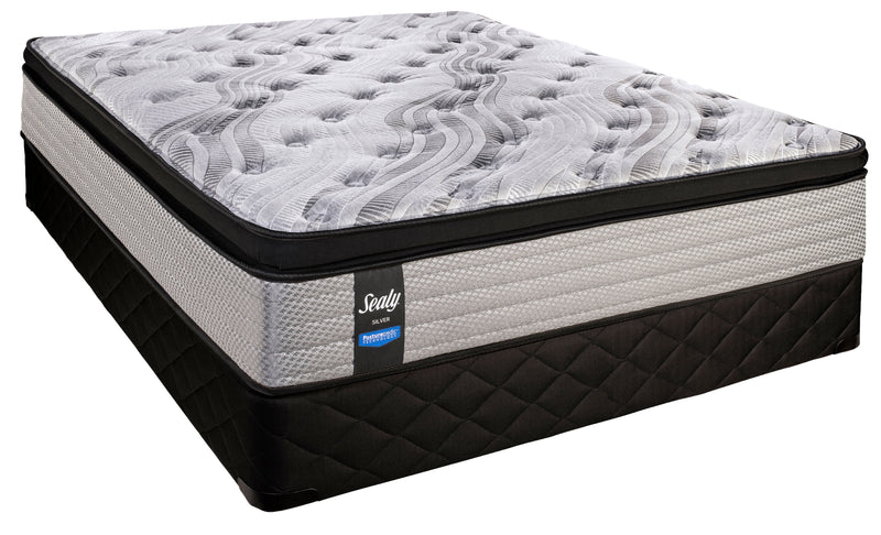 Sealy Twilight Peak Cushion Firm Full Mattress and Low-Profile Boxspring Set