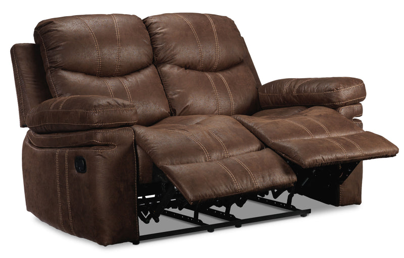 Marbella Reclining Loveseat - Brown
