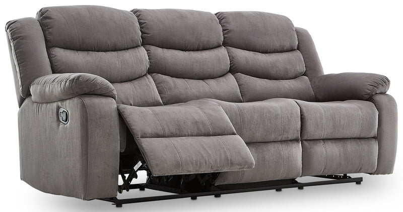 Earl Reclining Sofa and Loveseat Set - Grey
