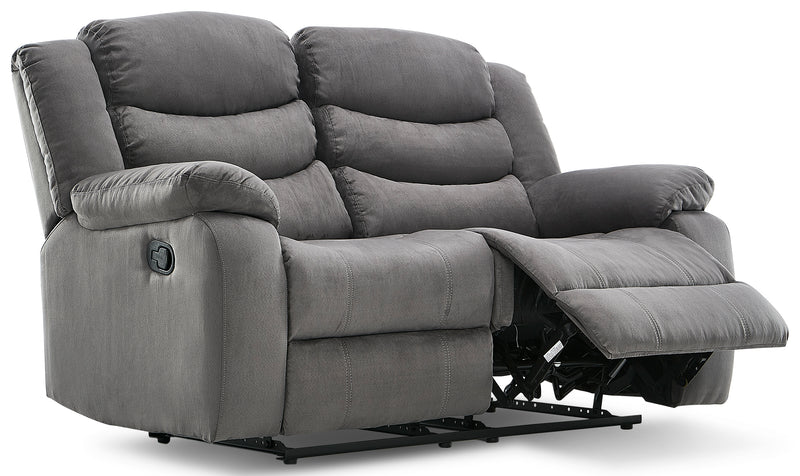 Earl Reclining Loveseat - Grey