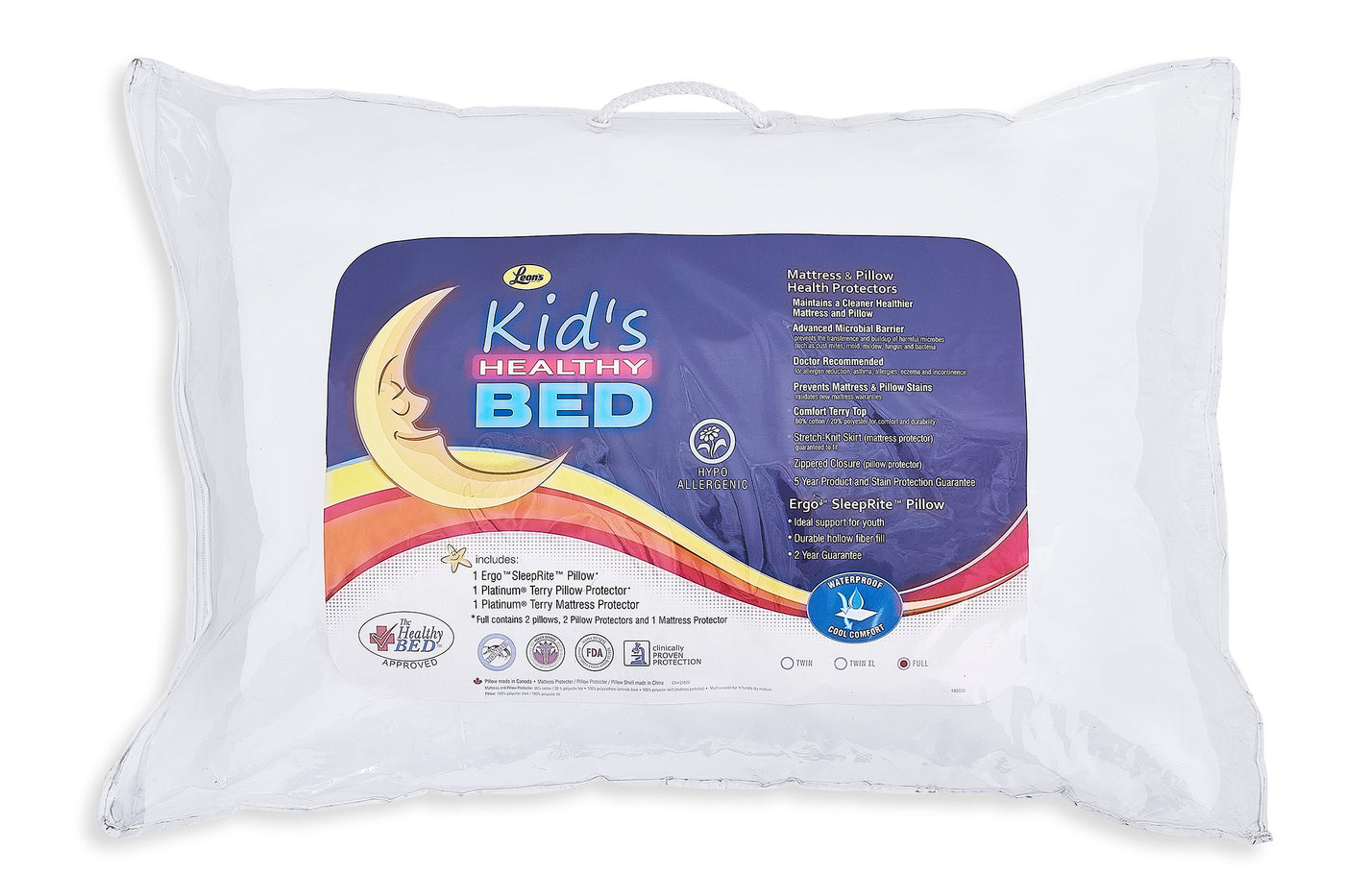 Kid S Healthy Bed 5 Piece Full Pillow Mattress And Pillow Health Protector Set Leon S