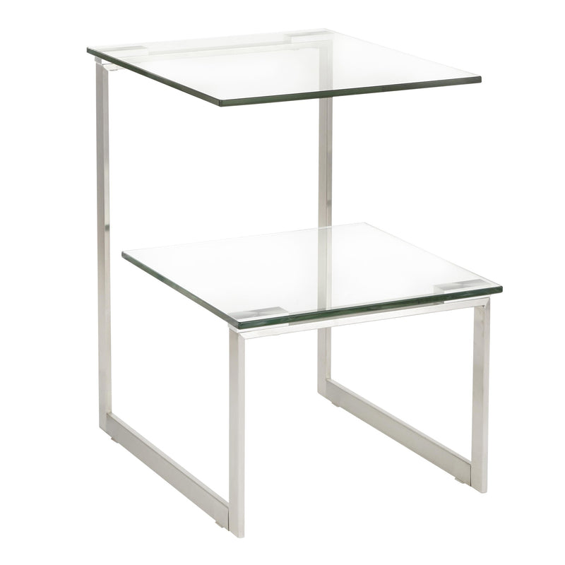 Dover Accent Table - Stainless Steel