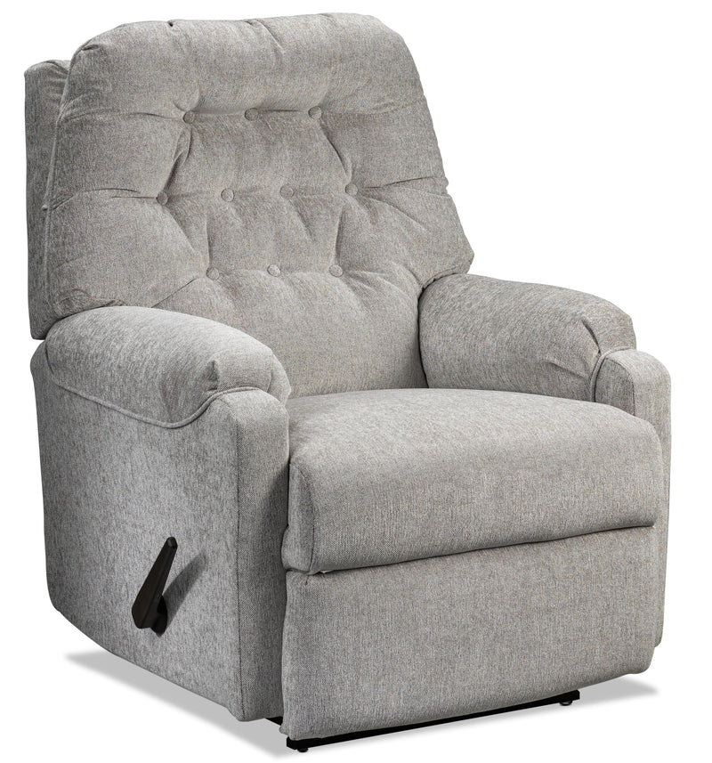 Martha Rocker Recliner - Crystal Grey