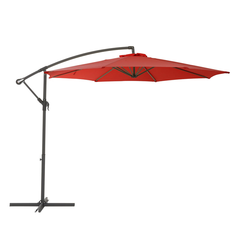 Maris Offset Umbrella - Crimson Red