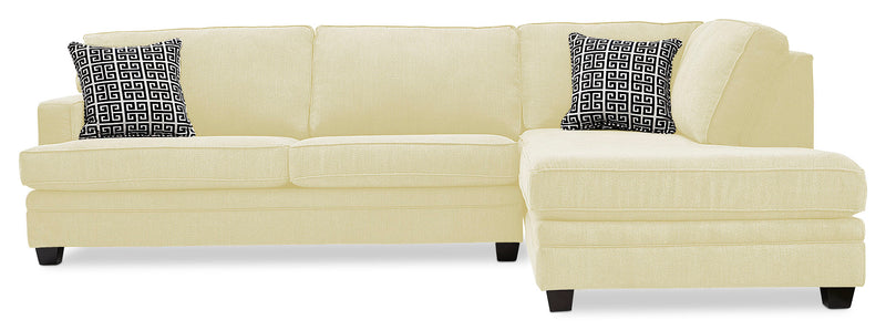 Anatasia 2-Piece Sectional with Right-Facing Chaise - Ivory