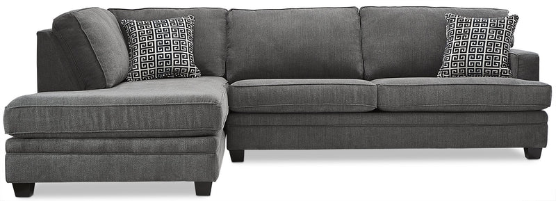 Anatasia 2-Piece Sectional with Left-Facing Chaise - Charcoal