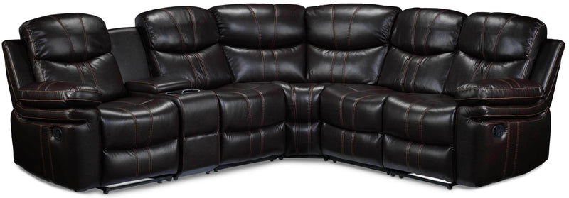 Layla 6-Piece Reclining Sectional - Chocolate Brown