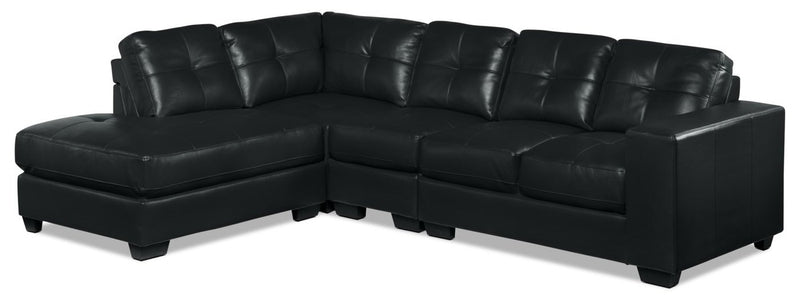 Meldrid 4-Piece Sectional with Left-Facing Chaise - Black