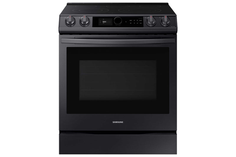 Samsung Black Stainless Steel Electric Range with True Convection and Air Fry (6.3 Cu.Ft) - NE63T8711SG/AC