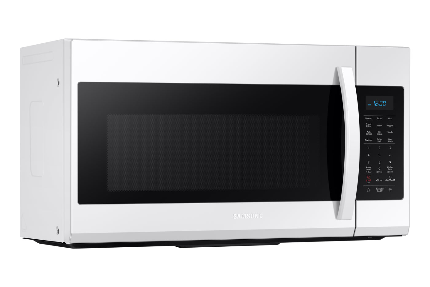 Samsung White Over The Range Microwave 1 9 Cu Ft