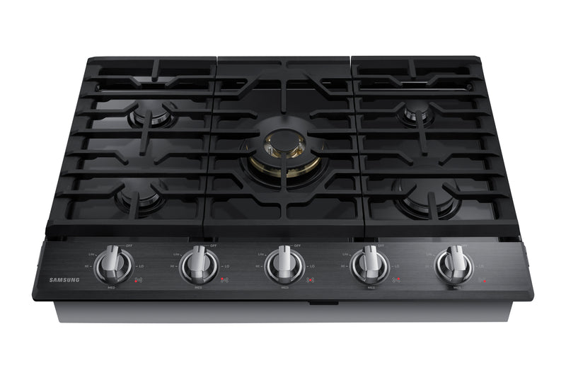 "Samsung Black Stainless Steel 30"" Gas Cooktop - NA30N7755TG/AA"