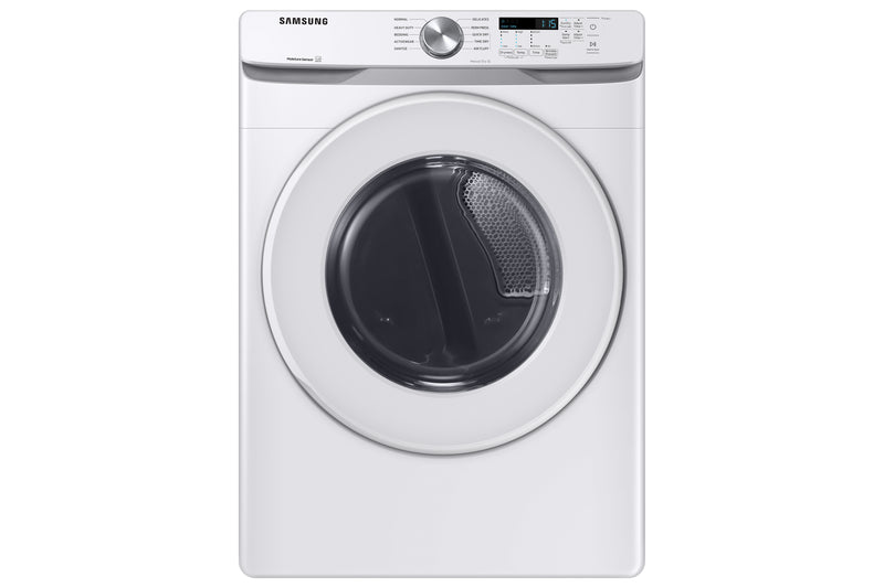 Samsung White Front Load Electric Dryer with Shallow Depth (7.5 Cu.Ft) - DVE45T6005W/AC