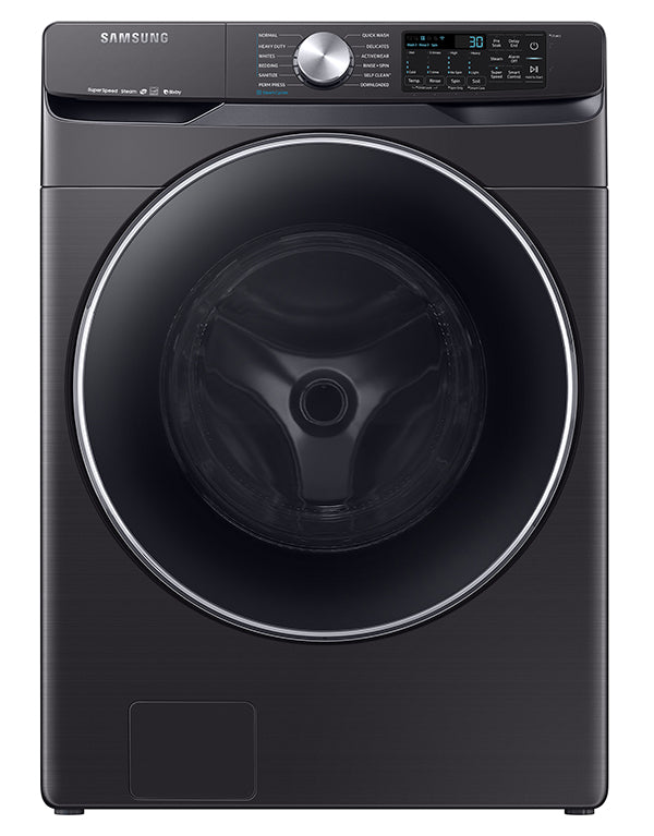 Samsung Black Stainless Steel Steam Front Load Washer (5.2 Cu. Ft.) - WF45R6300AV/US