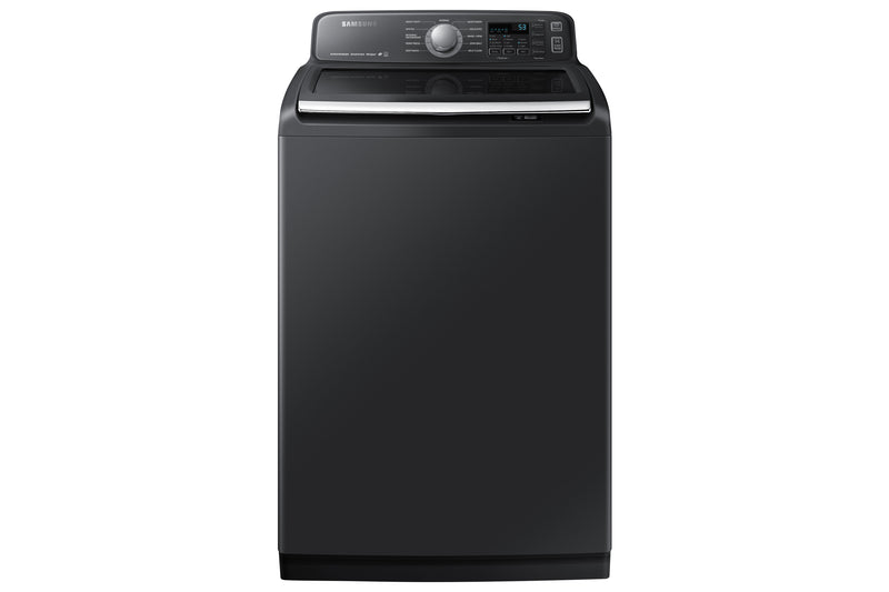 Samsung Black Stainless Steel Top Load Washer (5.8 Cu. Ft.) - WA50T7455AV/A4