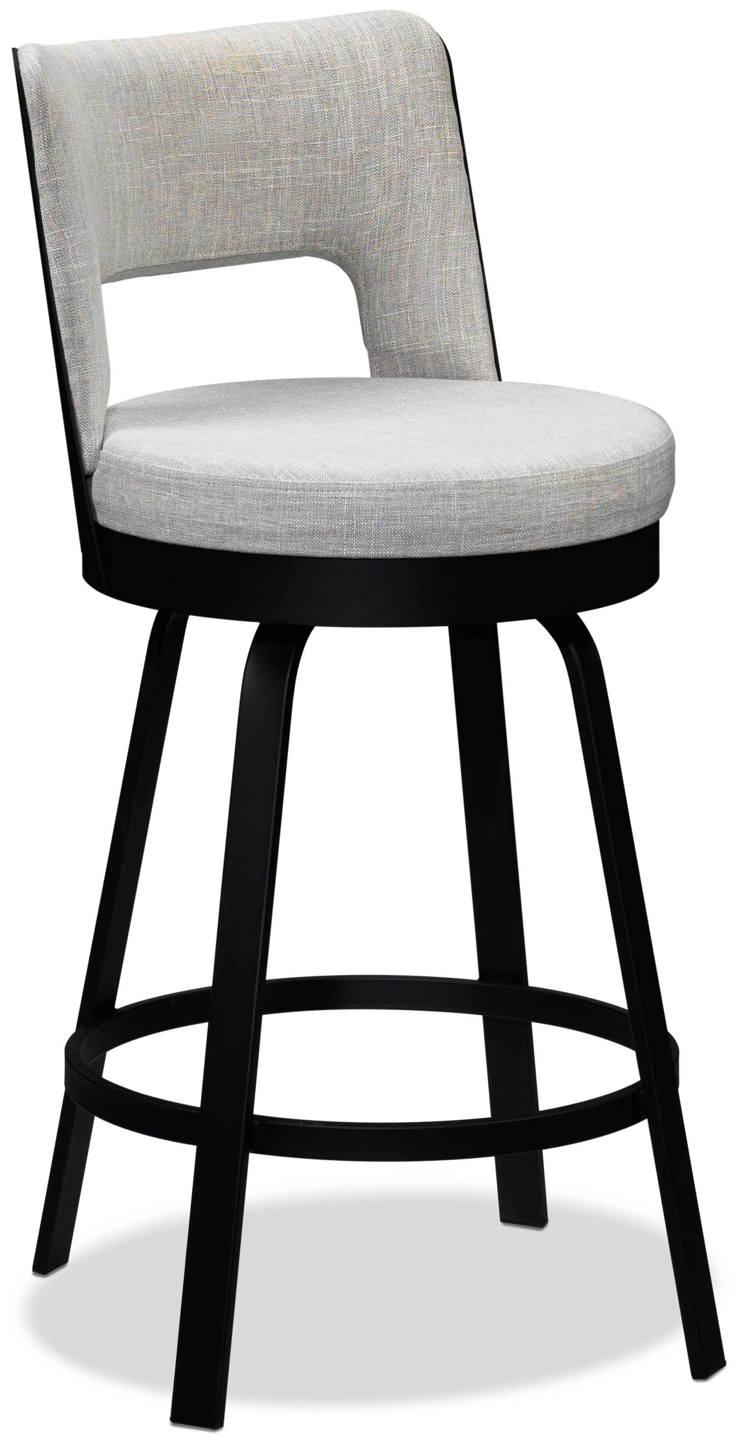 Brooks Swivel Counter Height Bar Stool Light Grey Leons