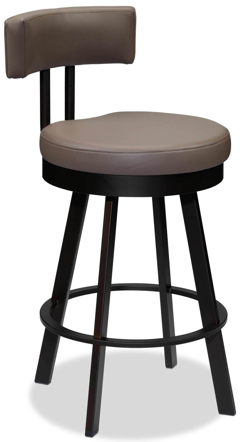 Barney Swivel Counter-Height Bar Stool - Mocha
