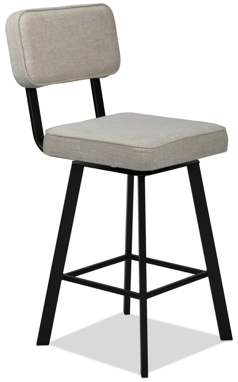 Bristol Swivel Counter-Height Bar Stool - Beige