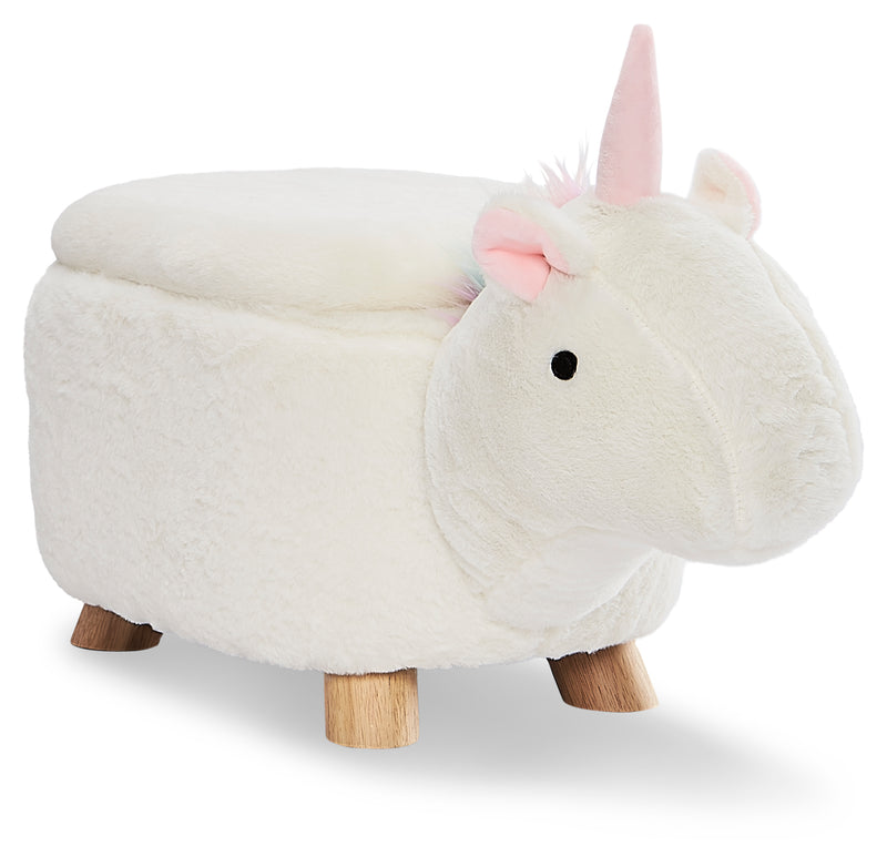 Unicorn Storage Ottoman - White