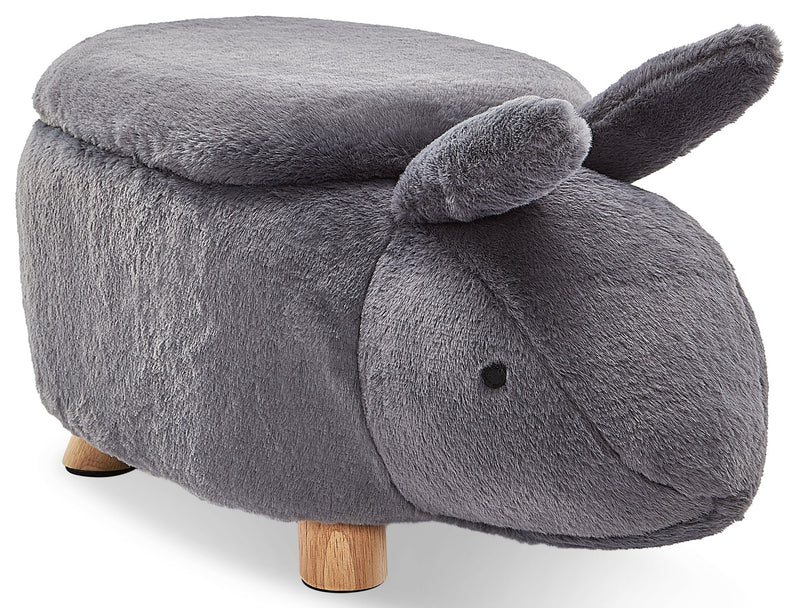 Rabbit Storage Ottoman - Dark Grey
