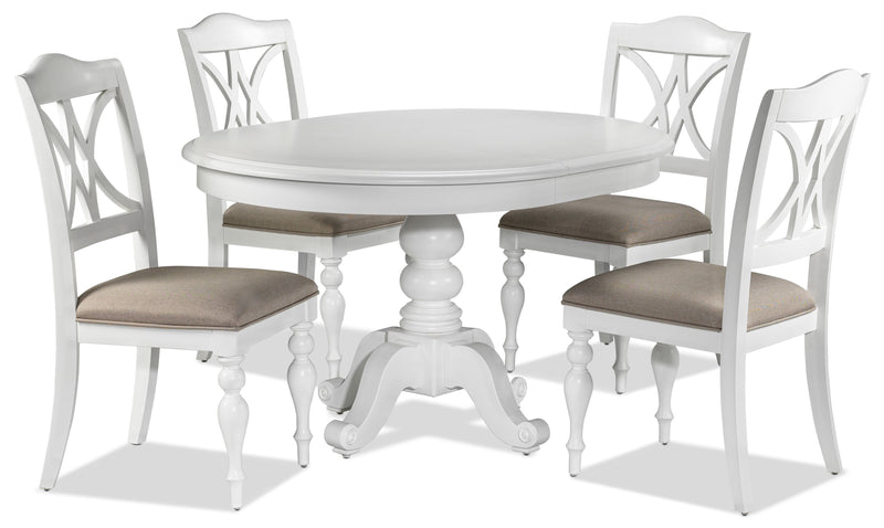 Summer 5-Piece Dinette Set - Oyster White