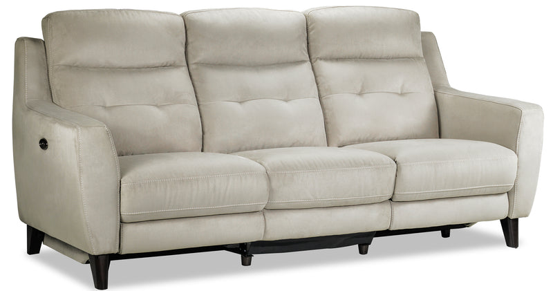 Lucas Power Reclining Sofa and Loveseat Set - Bisque
