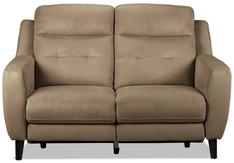 Lucas Power Reclining Loveseat - Taupe