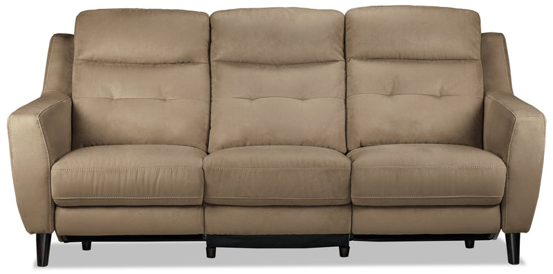Lucas Power Reclining Sofa, Loveseat and Chair Set - Taupe