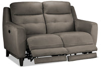 Lucas Power Reclining Loveseat - Dark Grey
