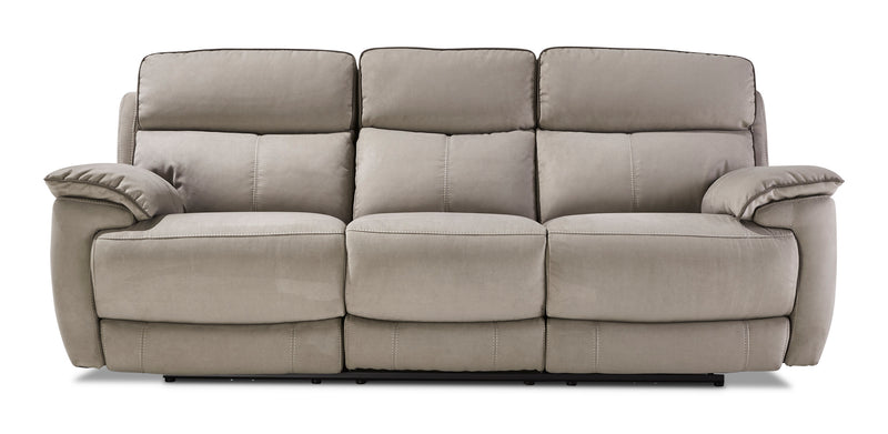 Memphis Dual Power Reclining Sofa - Silver Grey